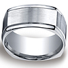 10mm Four Sided Comfort-Fit Argentium Silver Men's Wedding Band