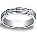 5mm Satin Double Groove Center Argentium Silver Wedding Ring thumb 0
