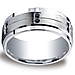 9mm Argentium Silver 12-Black Diamond Wedding Band for Men thumb 0