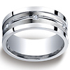 9mm Square Edge Argentium Silver Men's 6-Diamond Band