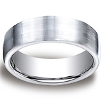 7.5mm Flat Comfort-Fit Satin Cobaltchrome Benchmark Wedding Ring