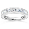 14K White Gold 1.00 CTW Princess Diamond Channel Set Wedding Band