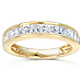 14K Yellow Gold 1 CTW Princess Diamond Channel Set Wedding Band thumb 0