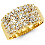 14k Yellow Gold Fancy CZ Band