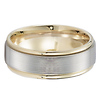 14k Two Tone Gold 8mm Designer Band