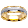 6.5mm Milgrain Satin 14K Two Tone Gold Ring