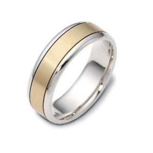 6.50mm 18K Two Tone Gold Dora Wedding Band