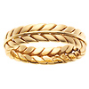 6mm 14K Yellow Gold Handmade Wheat Braid Band