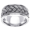 14K White Gold Weave and Braid Wedding Ring