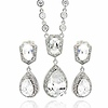 Bridal Jewelry Hanging CZ Teardrop Necklace Set thumb 0