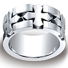 Cobaltchrome 10mm Comfort-Fit Satin Celtic Cross Benchmark Ring thumb 0