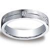 5mm Argentium Silver Comfort-Fit Pave 6-Diamond Band by Benchmark thumb 0