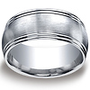 10mm Double Row Round Edge Comfort-Fit Argentium Silver Wedding Band thumb 0