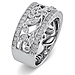 14K White Gold Art Deco Floral Diamond Ring Band 0.25ctw thumb 1