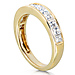 14K Yellow Gold 1 CTW Princess Diamond Channel Set Wedding Band thumb 2