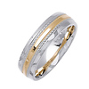 Two Tone 14K Designer Wedding Band thumb 1