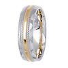 Two Tone 14K Designer Wedding Band thumb 2