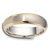Classic 6mm 18K Two Tone Gold Wedding Band by Dora thumb 1